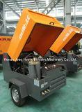 185cfm 8bar 모래 분사를 위한 디젤 엔진 휴대용 나사 공기 압축기