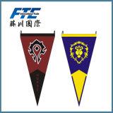 Bandera colgante del indicador de la tela de la impresión del estilo