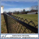Cerca revestida modificada para requisitos particulares del acoplamiento de la conexión de cadena del PVC Gavlvanized del color