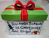 Boîte en céramique peinte à la main de cadeau de Noël (GW1258)