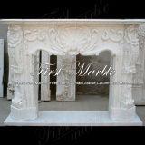 Marmeren Open haard mfp-112 van Carrara van de Open haard van het Graniet van de Open haard van de Steen van de Open haard Witte