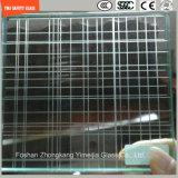 стекло конструкции безопасности 3-19mm, стекло провода, прокатывая стекло, картина плоская/согнуло Tempered защитное стекло для стены/загородки/перегородки гостиницы с SGCC/Ce&CCC&ISO