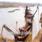 강 Desilting를 위한 모래 바지선 배
