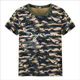Neue Tendenz-heiße Verkaufs-Zeichen-grafische Blumenbaumwollbeiläufiges T-Shirt
