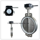 Steel di acciaio inossidabile Sanitary Butterfly Valve con Rubber Seal (D34 (7) 1X-10/16)