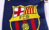Sciarpa lavorata a maglia acrilica di gioco del calcio di calcio del jacquard del tifoso