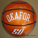 Баскетбол PVC логоса таможни размера 3 выдвиженческий кожаный