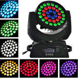 diodo emissor de luz Moving Head Wash Light de 36PCS 10W 6in1 Zoom