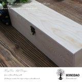 _E en bois de caisse d'emballage de cadeau de couleur normale non finie faite sur commande de Hongdao