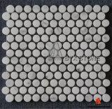 Mattonelle di mosaico del marmo di bianco cinese per la decorazione della parete