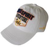 Gorra de béisbol lavada blanca con Niza 3D la insignia Gjwd1705
