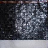 Barrière noire de la vase 70GSM tissée par pp
