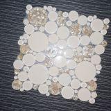 Mattonelle di mosaico rotonde bianche di cristallo delle coperture