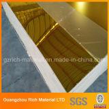 2mm goldenes Spiegel-Plastikblatt-Acrylspiegel-Blatt