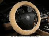 Cobertura de roda de direção de carroçaria de pele de carne de lã curta