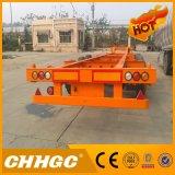Полуприцеп контейнера Gooseneck высокого качества 3axle Hh каркасный