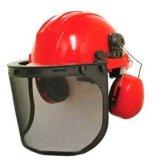 Visera ancha de la visión con el chapoteo determinado del casco de seguridad resistente