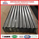 Tuile de toiture ondulée de zinc en aluminium