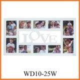 Рамка фотоего коллажа влюбленности деревянная при 10 раскрывая (WD10-25W)