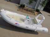2017 barco de borracha inflável 5.2m rígido novo Hypalon do barco Rib520c do modelo 17FT com o barco de pesca do Ce