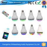 Altoparlante di Bluetooth della lampadina della radio LED dei nuovi prodotti 2016 mini gestito dal APP