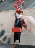 Polea del bloque del negro G170 con la polea acanalada segura del hierro del estante