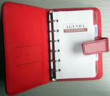 Lederimitat-Notizbuch mit Telefon-Gummiband-Haltern