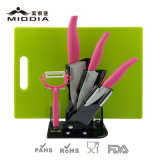 Color dentellare Kitchen Knife Set con Holder & Chopping Board