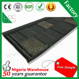 Mattonelle rivestite di pietra di punto del Kenia/mattonelle rivestite dello strato tetto del metallo/tetto della pietra