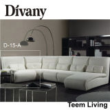 Divany weiche Sofa-Antike-Art-bestes Garten-Sofa-/Lagerschwelle-Sofa D-12 des Sofa-Sectionals/Leather