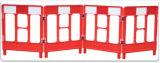 Barrera plástica del camino del trabajo de la puerta del control de muchedumbre