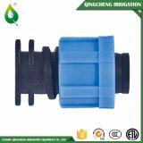 T plástico do encaixe de tubulação da irrigação de Driptape da contraporca