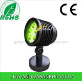 15W LED tricolor del paisaje del jardín luz del césped con base redonda (JP83556)