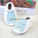 Blanc Bow cuir pleine bébé, chaussures de tout-petits en cuir, chaussures de bébé, santé environnementale