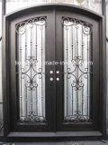 ハンドメイドアークの別荘のための上の錬鉄の複式記入の表玄関