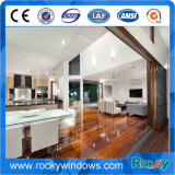 Ventana de casa pasiva de aluminio con revestimiento de madera