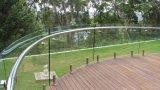 Gebogene ausgeglichenes Glas-Geländer-Außenpanels/Frameless Glas-Balustrade