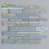 Großhandelsschiefer-Mischfarben-lineare Mosaik-Fliese für Wandverkleidung