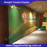 La tela impresa a todo color de la tensión surge la visualización para hacer publicidad