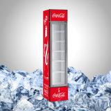 Porta de vidro de marcagem com ferro quente refrigerador magro para a promoção da bebida