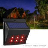 Lámpara de detección animal ligera disuasiva despredadora accionada solar del reflector del LED