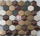 最新のNew Hexagon Shape Crystal Mix Stainless SteelおよびAluminium Mosaic (CFM969)