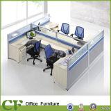 Moderner Büro Workstaion Tisch mit Glasbildschirm-Partition
