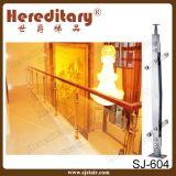 Corrimano di vetro dell'interno di legno e dell'acciaio inossidabile (SJ-H1157)
