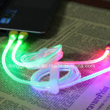 Micro USB를 위한 LED Transparent Light USB Cable