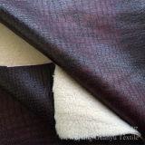 Составной кожаный полиэфир 100% ткани софы с бронзированной обработкой