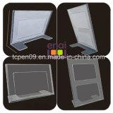 Stand transparent en plastique de carte de qualité bon marché et bonne pour la papeterie