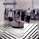 白黒シリーズによって艶をかけられる磨かれた磁器の床タイル(660009)