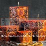 Eingebettete trockene Blumen-Zitrone-Scheibe-Kunst-Kerzen