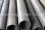 Écran de filtration d'industrie de Johnson de fente de précision/filtre pour puits de l'eau/filtre soudé par fil en vé de cale